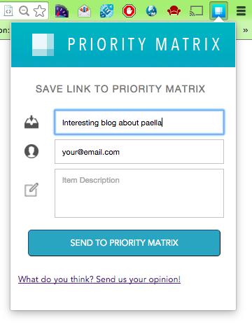 Priority Matrix for Chrome