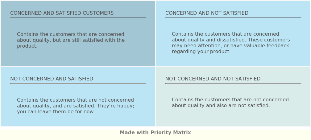 Customer Satisfaction Matrix