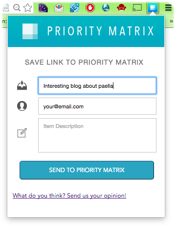 Priority Matrix for Firefox