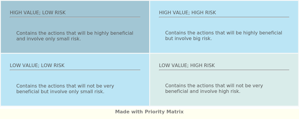 Risk Value Matrix