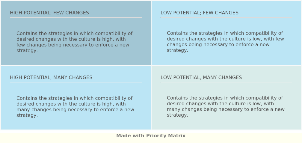Strategy Culture Matrix